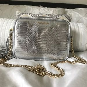 Silver Victoria Secret Crossbody Purse